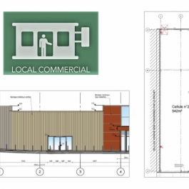 A LOUER - Local commercial de 542 m² - Zone Commerciale - RUFFEC
