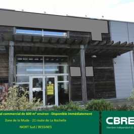 A LOUER - Local commercial 600 m² - Zone de la Mude - BESSINES
